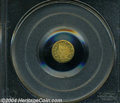 California Fractional Gold: , 1874 Indian Round 25 Cents, BG-876, Low R.4, MS64 PCGS. ...