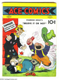 "Golden Age (1938-1955):Cartoon Character, Ace Comics #4 (David McKay Publications, 1937) Condition: VG.Featuring Blondie, Ripley's ""Believe It or Not"", and Jungle Ji..."