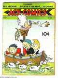 """Platinum Age (1897-1937):Miscellaneous, Ace Comics #6 (David McKay Publications, 1937) Condition: GD+.Starring Tex Thorne, Ripley's """"Believe it or Not,"""" and Blondi..."""