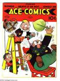 Golden Age (1938-1955):Cartoon Character, Ace Comics #17 (David McKay Publications, 1938) Condition: VG+.Featuring the Phantom, Blondie, Krazy Kat, and many more. Ov...