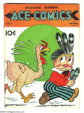 Golden Age (1938-1955):Cartoon Character, Ace Comics #33 (David McKay Publications, 1939) Condition: VG+.Thanksgiving themed cover. Featuring the Phantom, Prince Val...