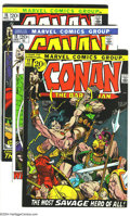 Bronze Age (1970-1979):Miscellaneous, Conan the Barbarian Group (Marvel, 1971-72) Condition: Average VF+.Barry Windsor Smith art. This group includes # 12, 13, a... (Total:3 Comic Books Item)