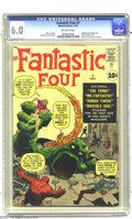 Silver Age (1956-1969):Superhero, Fantastic Four #1 (Marvel, 1961) CGC FN 6.0 Off-white pages. TheFantastic Four were an unassuming group when they first hit...