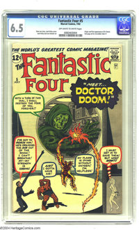 Fantastic Four #5 (Marvel, 1962) CGC FN+ 6.5 Off-white to white pages. Jack Kirby art. Origin and first appearance of Do...