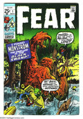 Bronze Age (1970-1979):Horror, Fear #1 (Marvel, 1970) Condition: VF/NM. Jack Kirby art. Overstreet2003 VF/NM 9.0 value = $37; NM 9.4 value = $45....
