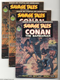 Bronze Age (1970-1979):Miscellaneous, Marvel Magazines Group (Marvel, 1973). This lot consists of SavageTales #2 (three copies) and Tales of the Zombie #... (Total: 4Comic Books Item)