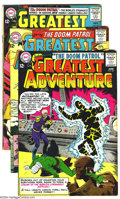 Silver Age (1956-1969):Adventure, My Greatest Adventure Group (DC, 1963-64) Condition: Average VG/FN. The first appearance and origin of the Doom Patrol in #8... (Total: 5 Comic Books Item)