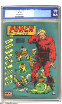 Punch Comics #2 (Chesler, 1942) CGC VF- 7.5 Cream to off-white pages. Captain Glory appearance. Overstreet 2003 VF 8.0 v...