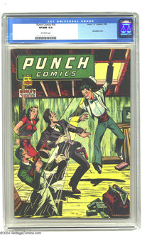 Punch Comics #18 (Chesler, 1946) CGC VF/NM 9.0 Off-white pages. Chesler books were usually pretty outre but always inter...