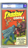 Golden Age (1938-1955):Crime, Shadow Comics V2#4 (Street & Smith, 1942) CGC FN/VF 7.0 Off-white to white pages. Little Nemo story. There is currently only...