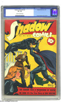 Golden Age (1938-1955):Crime, Shadow Comics V3#2 (Street & Smith, 1943) CGC VF+ 8.5 Cream to off-white pages. Vernon Greene cover and art. To date, this i...