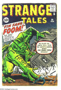 Silver Age (1956-1969):Adventure, Strange Tales #89 (Marvel, 1961) Condition: VG-. First appearance of Fin Fang Foom. Steve Ditko, Jack Kirby art. Overstreet ...