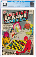 Silver Age (1956-1969):Superhero, Justice League of America #1 (DC, 1960) CGC FN- 5.5 Off-white to white pages....