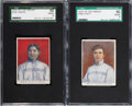 Baseball Cards:Lots, 1910 D322 Tip-Top Bread Pittsburgh Pirates SGC-Graded Pair...