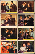 """Movie Posters:Crime, The Penalty (MGM, 1941). Fine. Lobby Card Set of 8 (11"""" X 14""""). Crime.. ... (Total: 8 Items)"""
