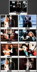 """Movie Posters:Action, Batman (Warner Bros., 1989). Very Fine+. Lobby Card Set of 8 and Lobby Card (11"""" X 14""""). Action.. ... (Total: 9 Items)"""