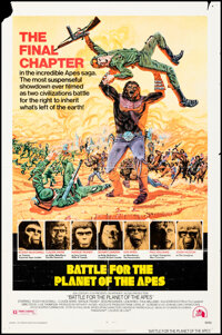 """Battle for the Planet of the Apes (20th Century Fox, 1973). Folded, Fine+. One Sheet (27"""" X 40"""") Robert Tanenb..."""