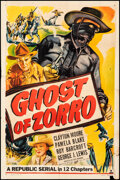 """Movie Posters:Serial, Ghost of Zorro (Republic, 1949). Folded, Fine. One Sheet (27"""" X 41""""). Serial.. ..."""