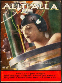 Metropolis in All for All Magazine (Ahlen & Akerlund, 1927). Fine/Very Fine. Swedish Magazine Issue No. 8 (85 Pages...