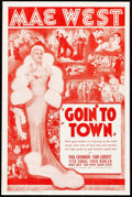 """Movie Posters:Comedy, Goin' to Town (Paramount, 1935). Very Fine+. Herald (9.25"""" X 14"""") DS. Comedy.. ..."""