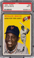 Baseball Cards:Singles (1950-1959), 1954 Topps Willie Mays #90 PSA NM 7. From 1954 Top...