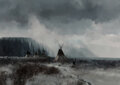 Paintings, Michael Coleman (American, b. 1946). Encampment in the Mist, 1975. Oil on Masonite. 34 x 48 inches (...