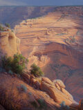 Paintings, Curt Walters (American, b. 1950). House Under the Rock, 1983. Oil on canvas. 50 x 38 inches (127 x 9...