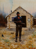 Paintings, Gerard Curtis Delano (American, 1890-1972). Weighing His Options, May 4, 1964. Oil on canvas. 31 x 2...