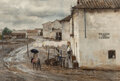 Paintings, Donald Teague (American, 1897-1991). Rain Over Cordoba. Watercolor and pencil on card. 20-1/8 x 30 i...