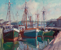 Emile Albert Gruppe (American, 1896-1978) Bright Morning Gloucester Oil on canvas 25 x 30 inches (63.5 x 76.2 cm) Si