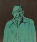 Paintings, Fritz Scholder (American, 1937-2005). The Art Dealer, 1976. Acrylic on canvas. 40 x 35 inches (101.6...