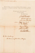 Robert Fulton Erie Canal Commission Document Signed with Related Document. ... (Total: 2)