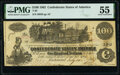 Confederate Notes:1862 Issues, T39 $100 1862 PF-13 Cr. 294 PMG About Uncirculated 55.. ...