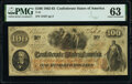 Confederate Notes:1862 Issues, T41 $100 1862 PF-11 Cr. 319A PMG Choice Uncirculated 63.. ...