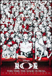 """101 Dalmatians (Buena Vista, 1996). Rolled, Very Fine+. One Sheet (27"""" X 40"""") DS Advance. Comedy"""
