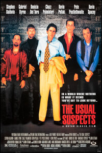 """The Usual Suspects (Gramercy, 1995). Rolled, Very Fine-. One Sheet (26.5"""" X 39.5"""") SS. Crime"""