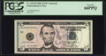 Small Size:Federal Reserve Notes, Low Serial Number 666 Fr. 1993-B $5 2006 Federal Reserve Note. PCGS Gem New 66PPQ.. ...