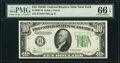 Small Size:Federal Reserve Notes, Fr. 2007-B $10 1934B Federal Reserve Note. PMG Gem Uncirculated 66 EPQ.. ...