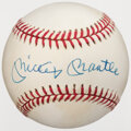 Autographs:Baseballs, Mickey Mantle Single Signed Baseball. Offered is ...