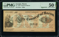Macon, GA- City Council of Macon $1 18__ Remainder PMG About Uncirculated 50 EPQ