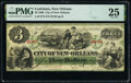 Obsoletes By State:Louisiana, New Orleans, LA- City of New Orleans $3 Jan. 1, 1868 PMG Very Fine 25.. ...