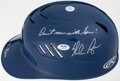 Autographs:Others, Nolan Ryan Signed Texas Rangers Helmet. Offered is...