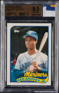 Baseball Cards:Singles (1970-Now), 1989 Topps Traded Ken Griffey Jr. (with a piece of 1989 Ga...