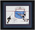 Autographs:Photos, Braden Holtby Signed Oversized 2018 Stanley Cup Final Phot...
