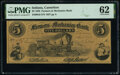 Cannelton, IN- Farmers and Mechanics Bank $5 Aug. 25, 1858 G8 Wolka 0285-04 PMG Uncirculated 62