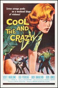 """Cool and the Crazy (American International, 1958). Folded, Very Fine+. One Sheet (27"""" X 41""""). Bad Girl"""