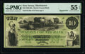 Morristown, NJ- Morris County Bank $10 18__ G46a Remainder PMG About Uncirculated 55 EPQ
