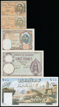 Algeria and Tunisia Group of 5 Examples Very Fine