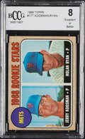 Baseball Cards:Singles (1960-1969), 1968 Topps Nolan Ryan - Mets Rookie Stars #177 BCCG Excell...