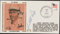 Autographs:Others, 1979 Satchel Paige Signed First Day Cover. Offere...